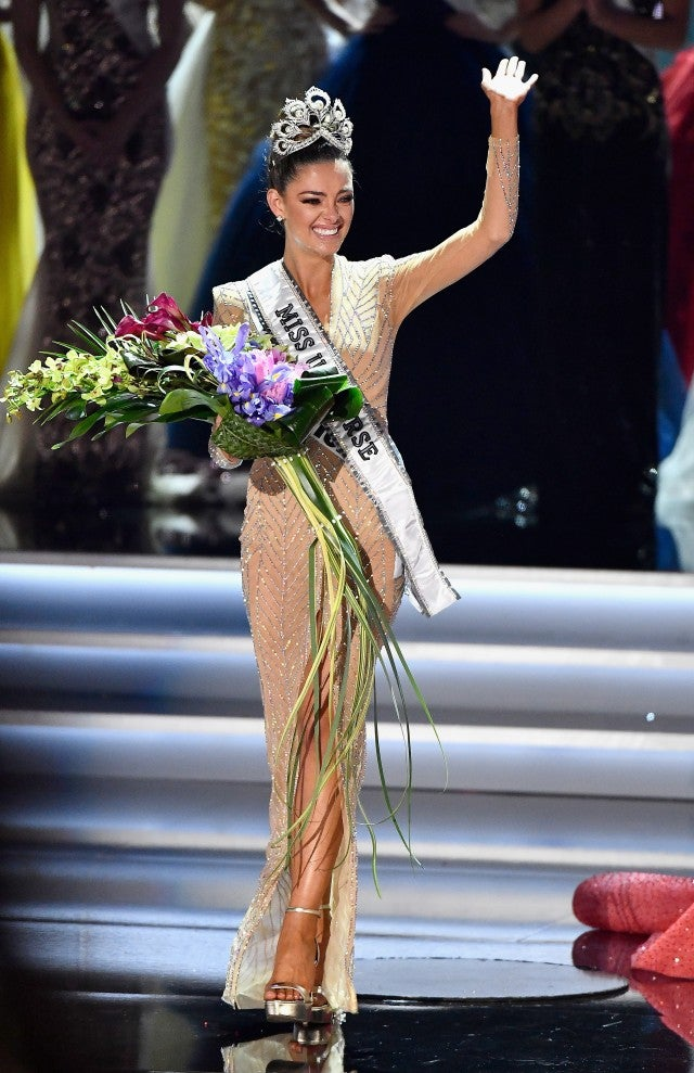 Miss South Africa 2017 Demi-Leigh Nel-Peters reacts as she is named the 2017 Miss Universe during the 2017 Miss Universe Pageant at The Axis at Planet Hollywood Resort & Casino on November 26, 2017 in Las Vegas, Nevada.