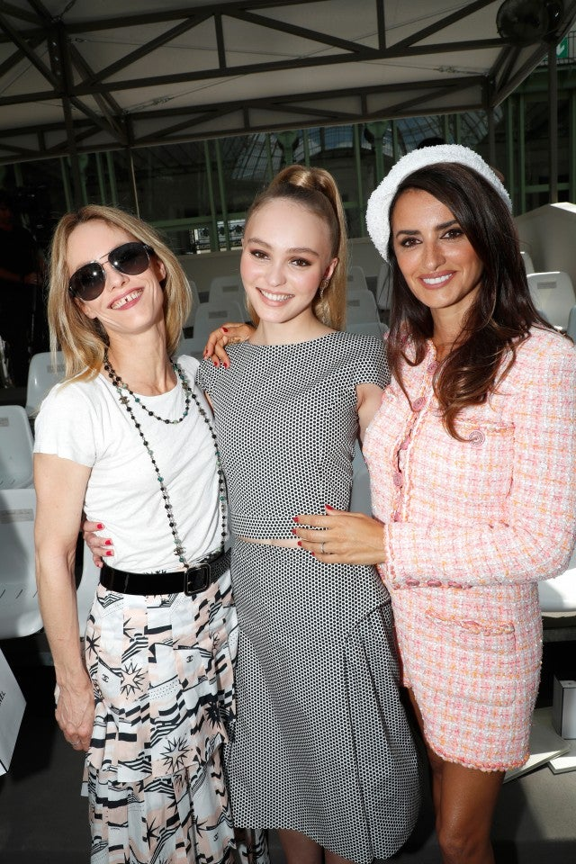 Penelope Cruz, Lily-Rose Depp and Vanessa Paradis at Chanel couture show