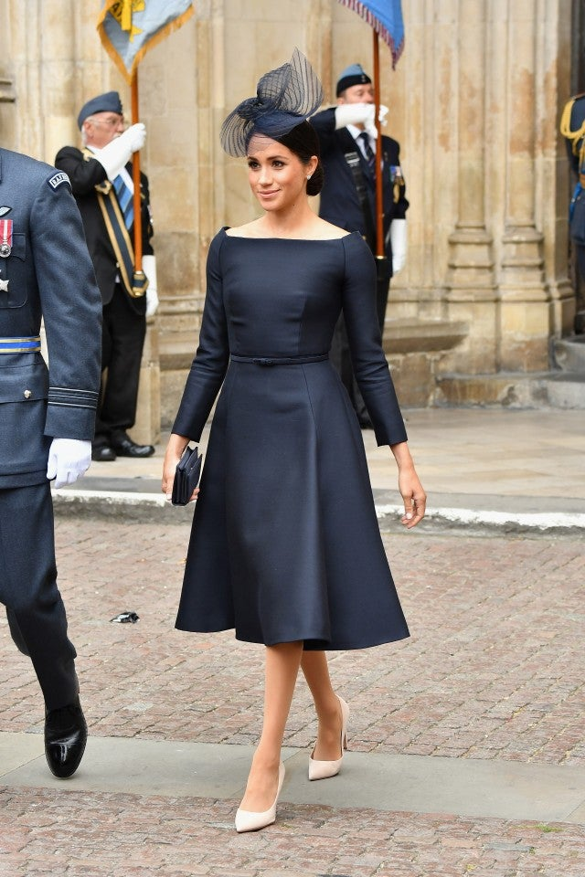 Meghan Markle black Dior dress