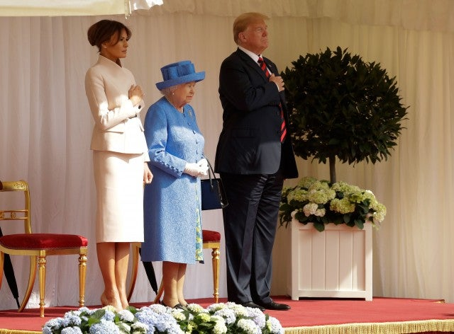 Donald Trump Melania Trump Queen Elizabeth