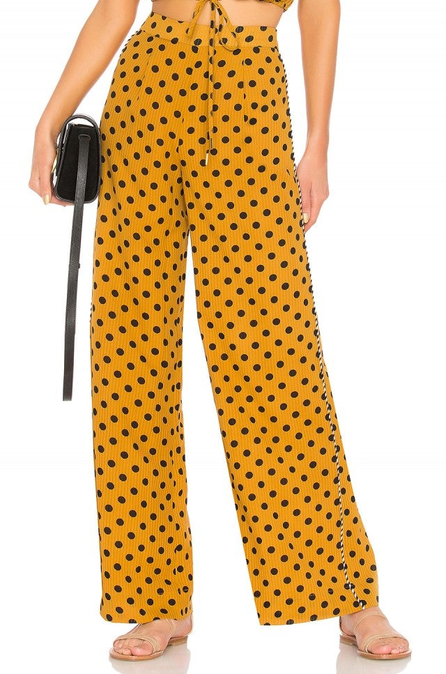 House of Harlow yellow polka dot trouser
