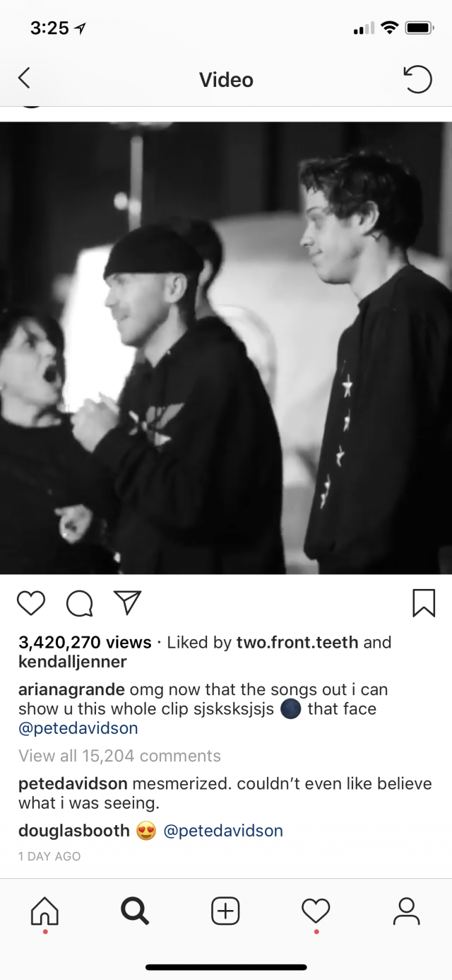 Pete Davidson comment on Instagram