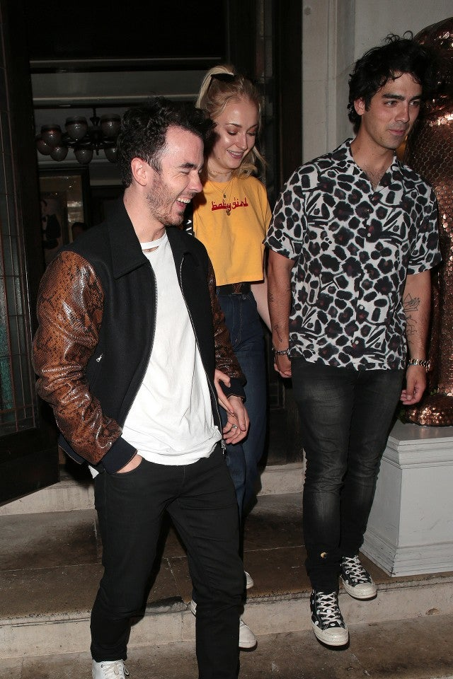 Joe Jonas and Sophie Turner and Kevin Jonas