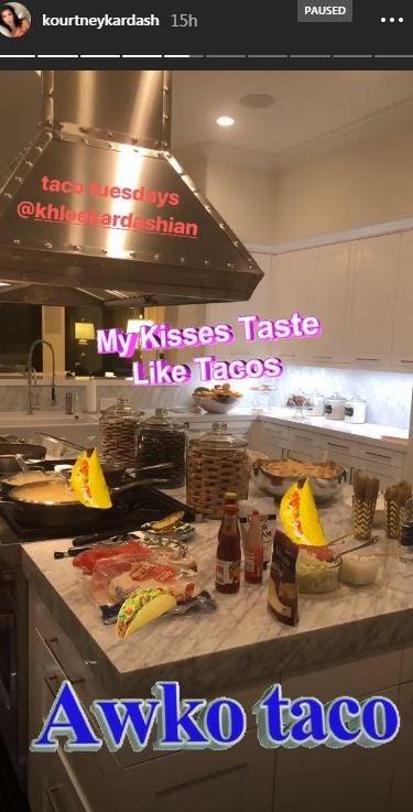 Kourtney Kardashian Taco Tuesday