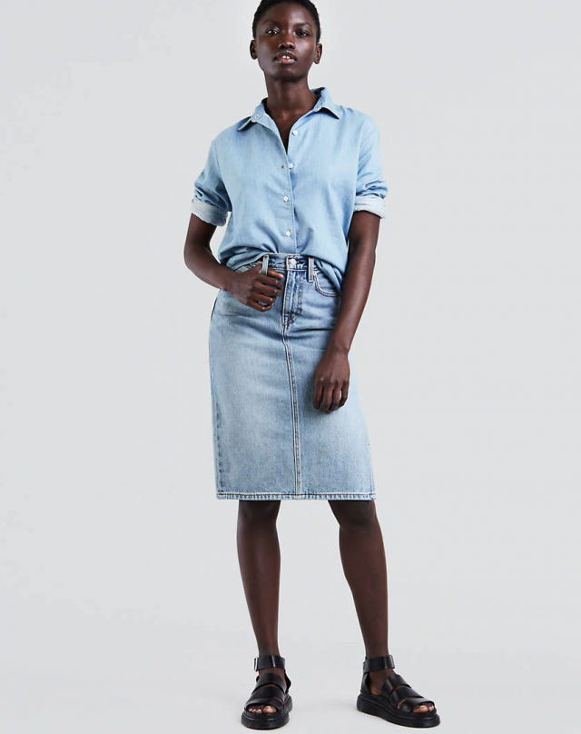 Levi's midi denim skirt