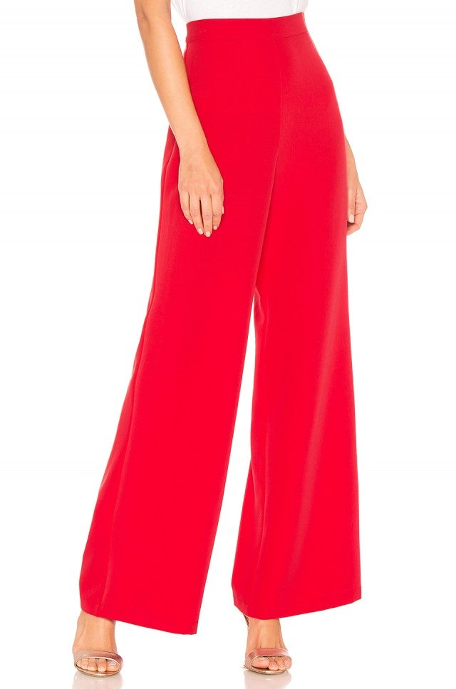 Lovers + Friends red wide leg pant