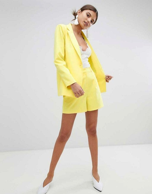 Missguided Tailored Blazer & Shorts Two-Piece