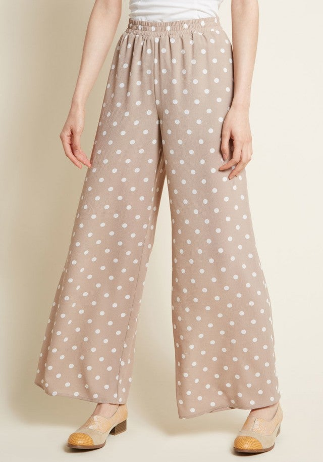 Modcloth polka dot pants
