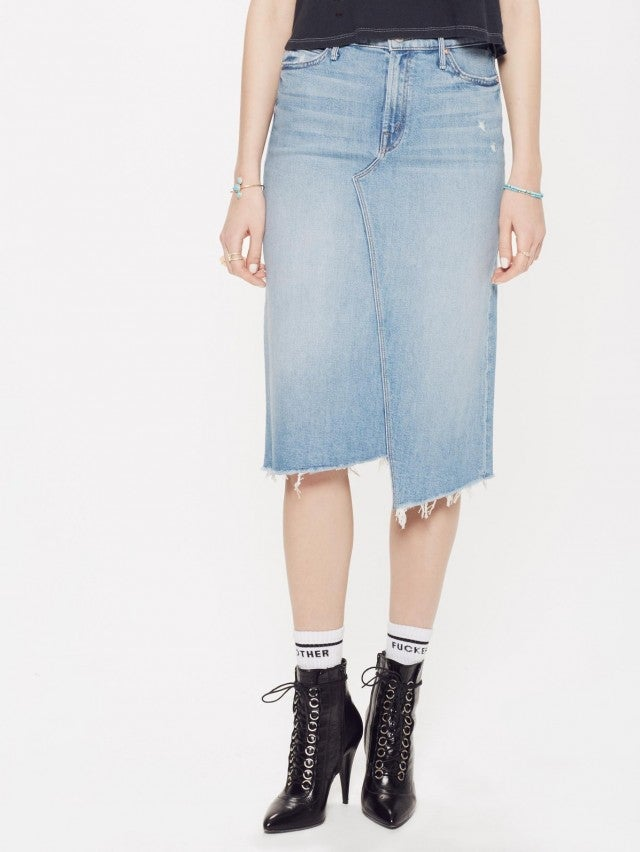 Mother denim midi skirt