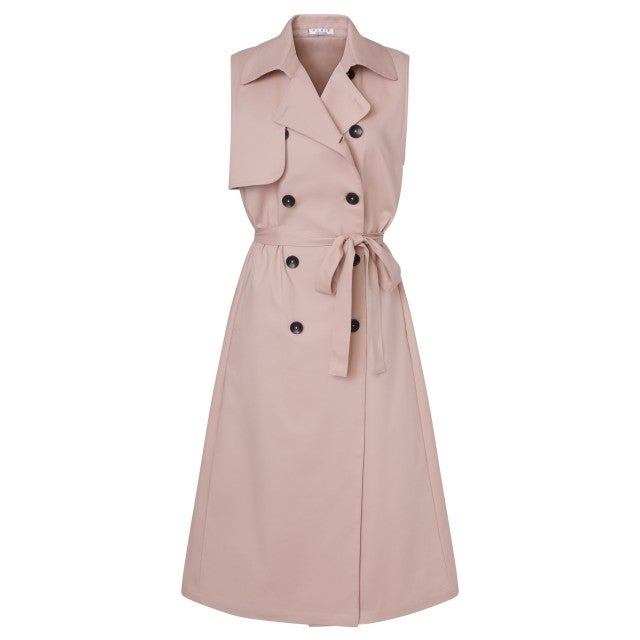 Nonie blush pink trench dress