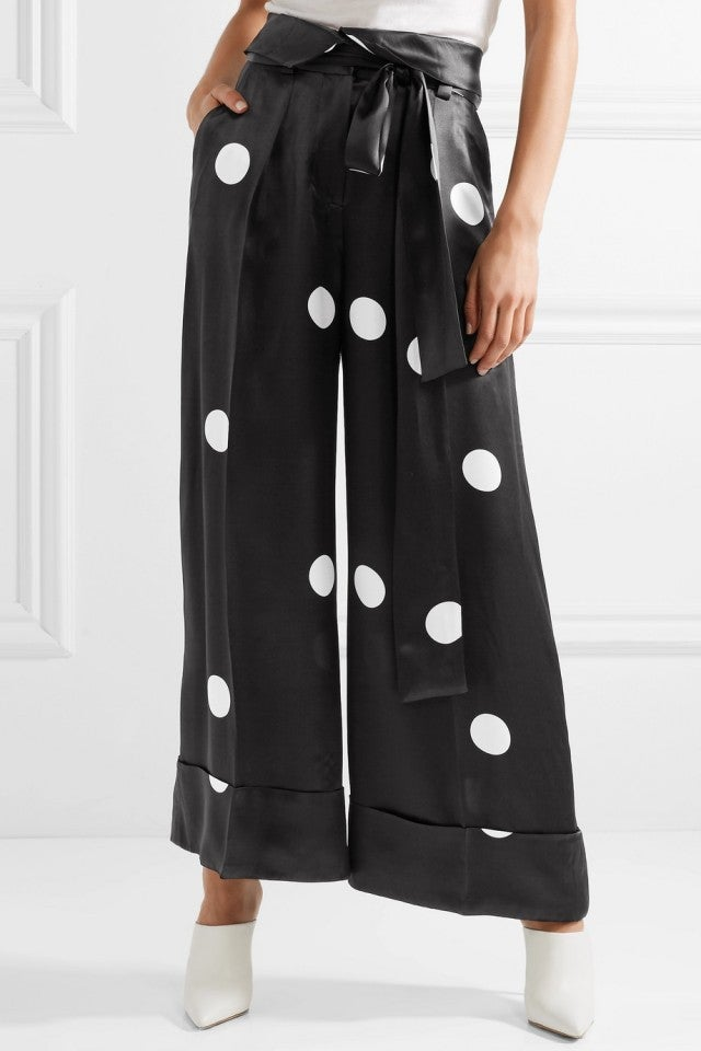 Peter Petrov polka dot satin pants