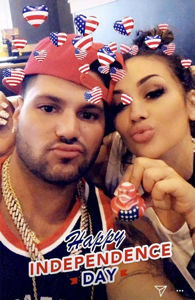 Ronnie Ortiz-Magro and Jen Harley Celebrate the 4th of July