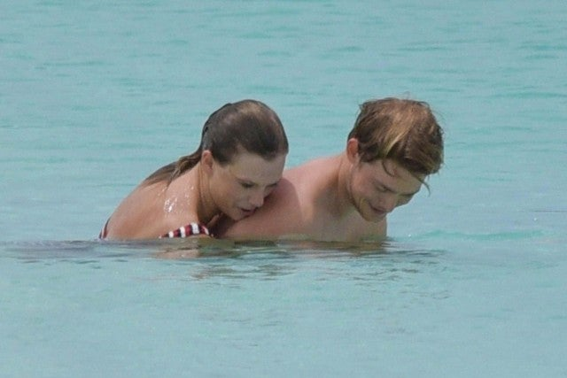 Taylor Swift and boyfriend Joe Alwyn in Turks and Caicos on July 4