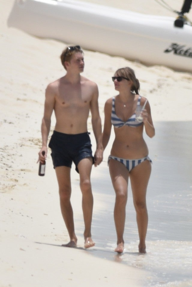 Taylor Swift and Joe Alwyn in Turks and Caicos on July 5, 2018.