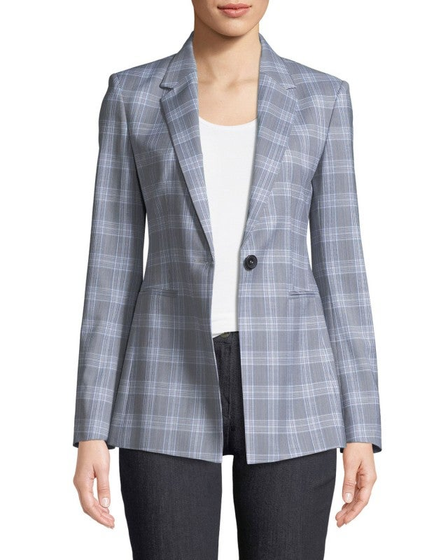 Theory Maple check blazer