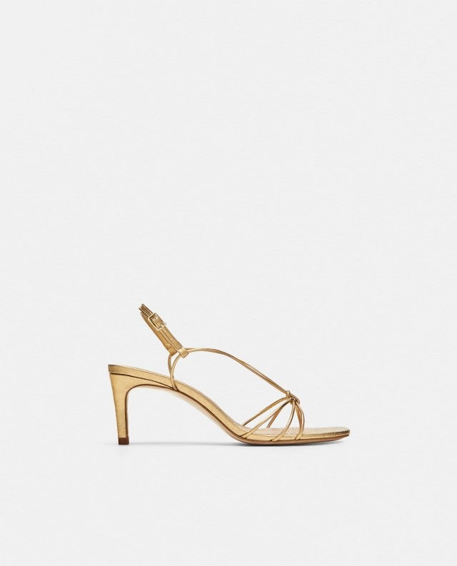 Zara gold strappy sandals