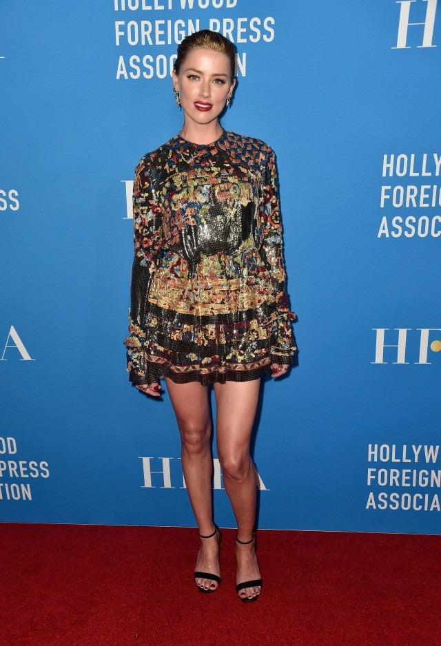 Amber Heard HFPA Event