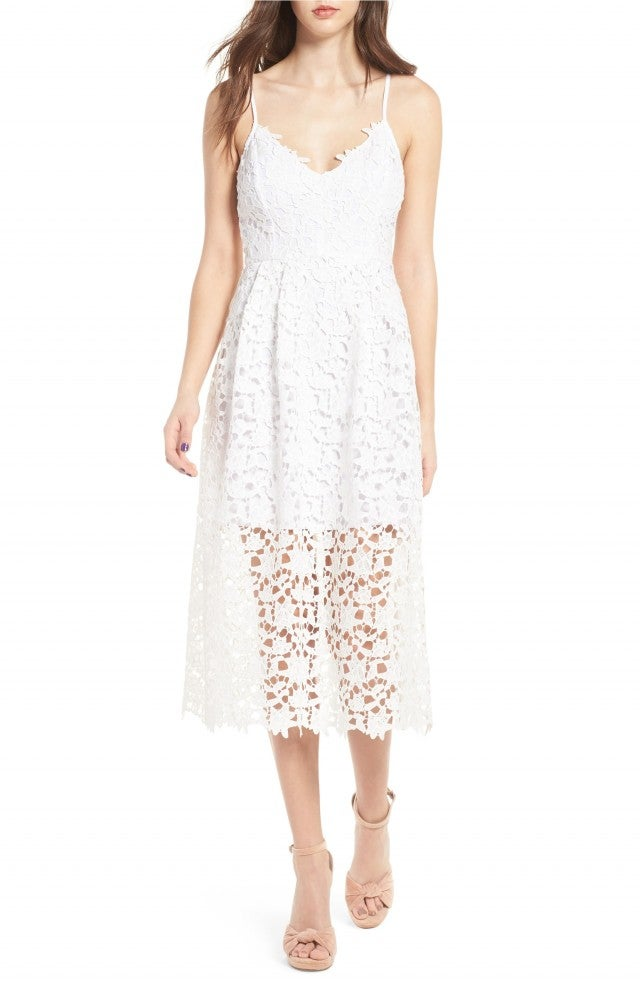 ASTR white lace dress