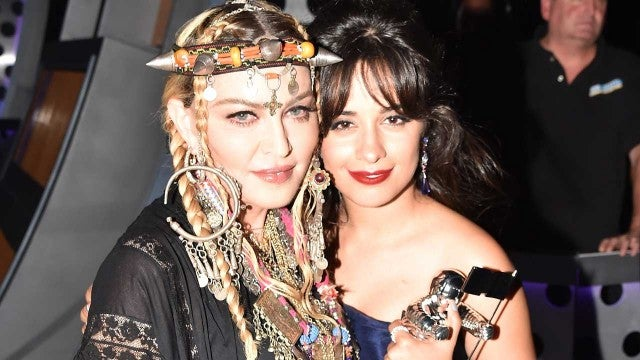 Madonna and Camila Cabello at the MTV VMAs in New York City on Aug. 20
