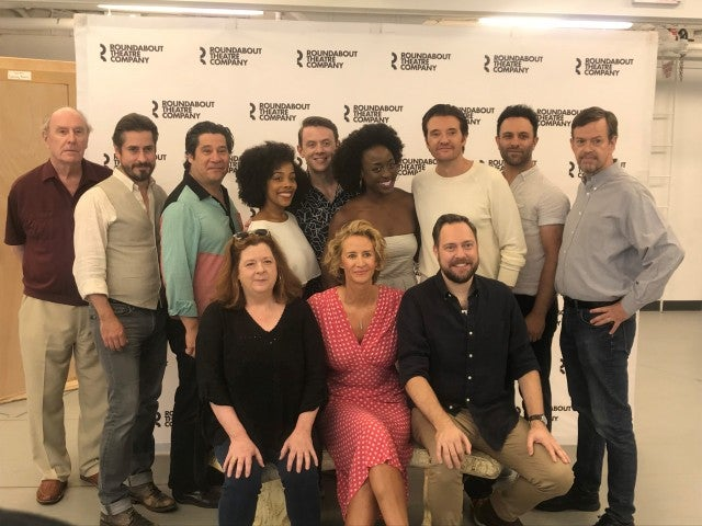 The cast of Broadway's Bernhardt/Hamlet