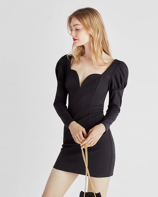 Express puffed shoulder mini dress
