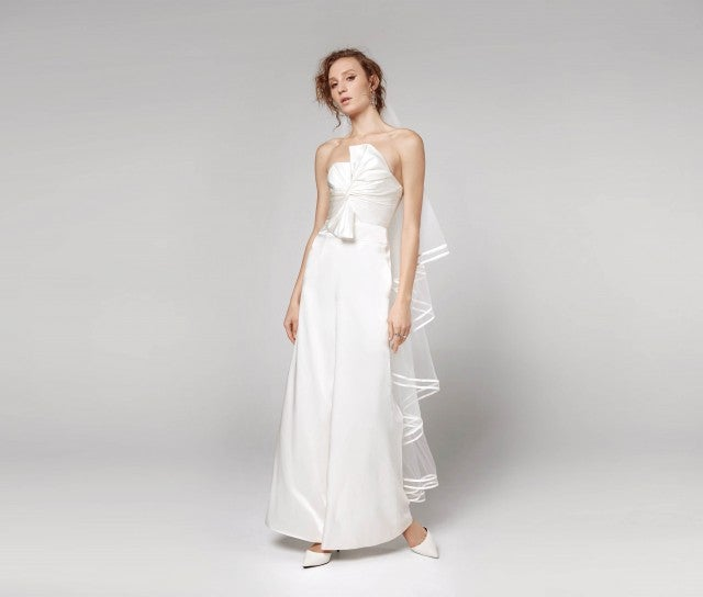 Fame and Partners bridal jumpsuit
