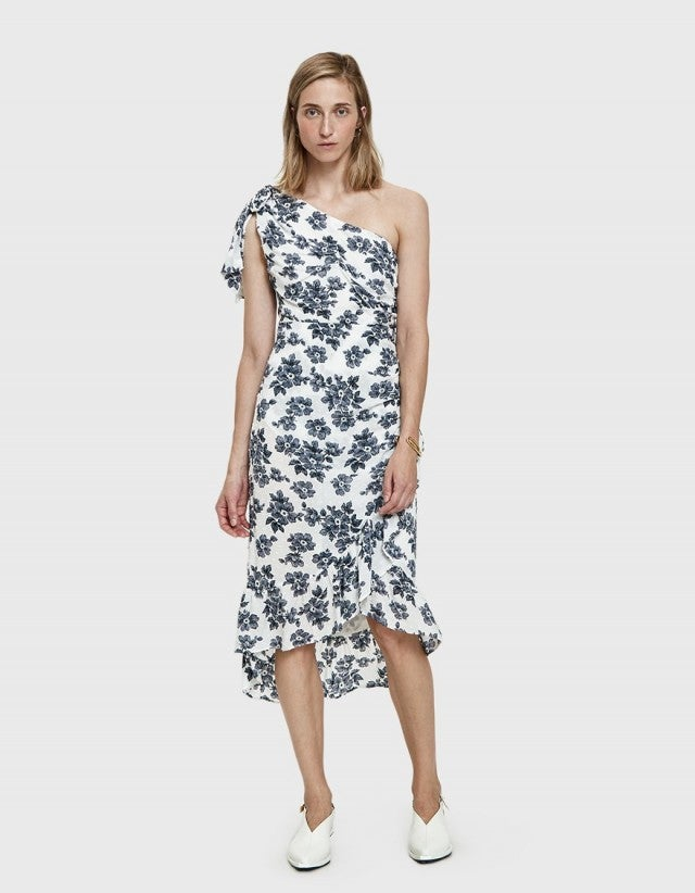 Farrow one shoulder floral dress