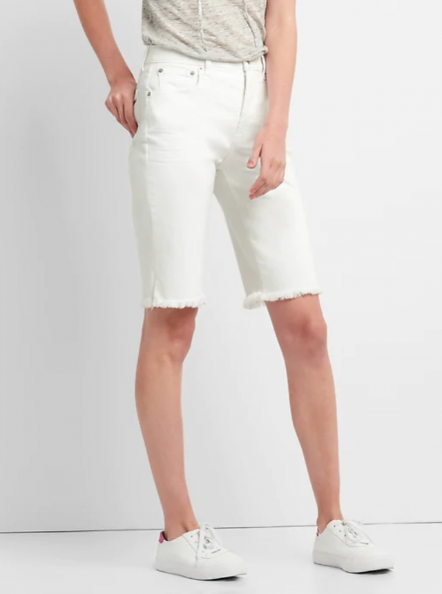 Gap white bermuda shorts