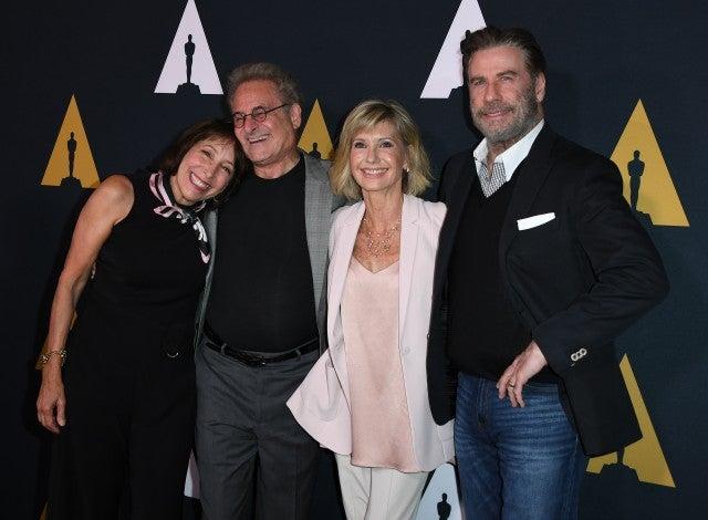 Didi Conn, Barry Pearl, John Travolta and Olivia Newton-John