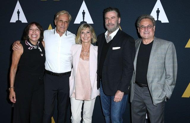 Didi Conn, Barry Pearl, Randal Kleiser, John Travolta and Olivia Newton-John