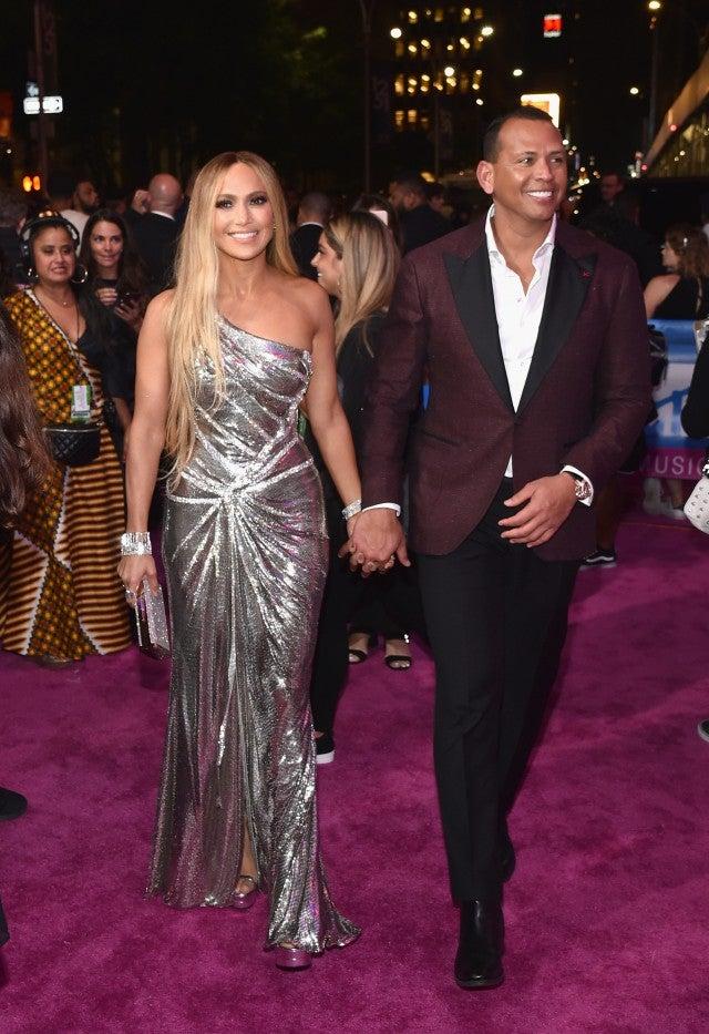 Jennifer Lopez and Alex Rodriguez at 2018 mtv vmas