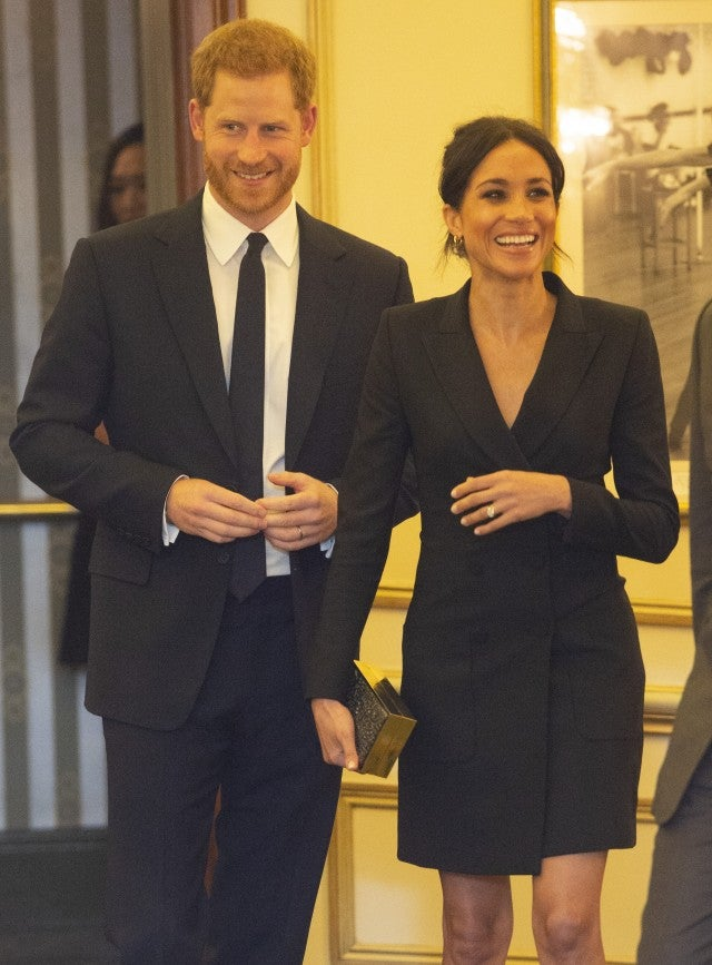 Prince Harry and Meghan Markle at Hamilton
