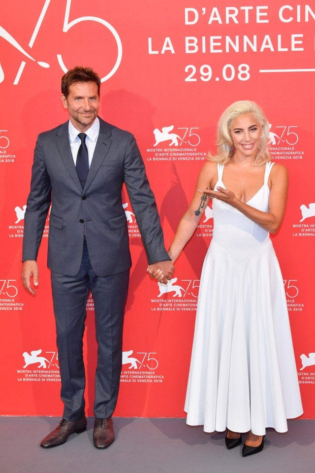 Bradley Cooper and Lady Gaga at A Star is Born photocall