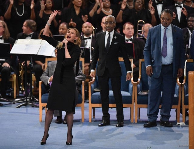 Faith Hill Aretha Franklin Funeral