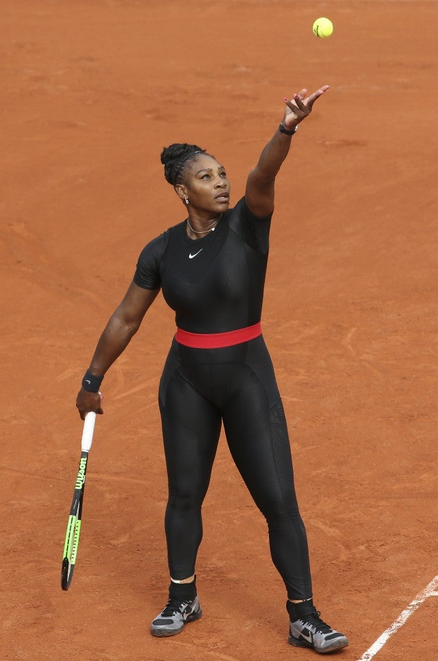 Image result for The 'catsuit' Serena Williams wore to the French Open