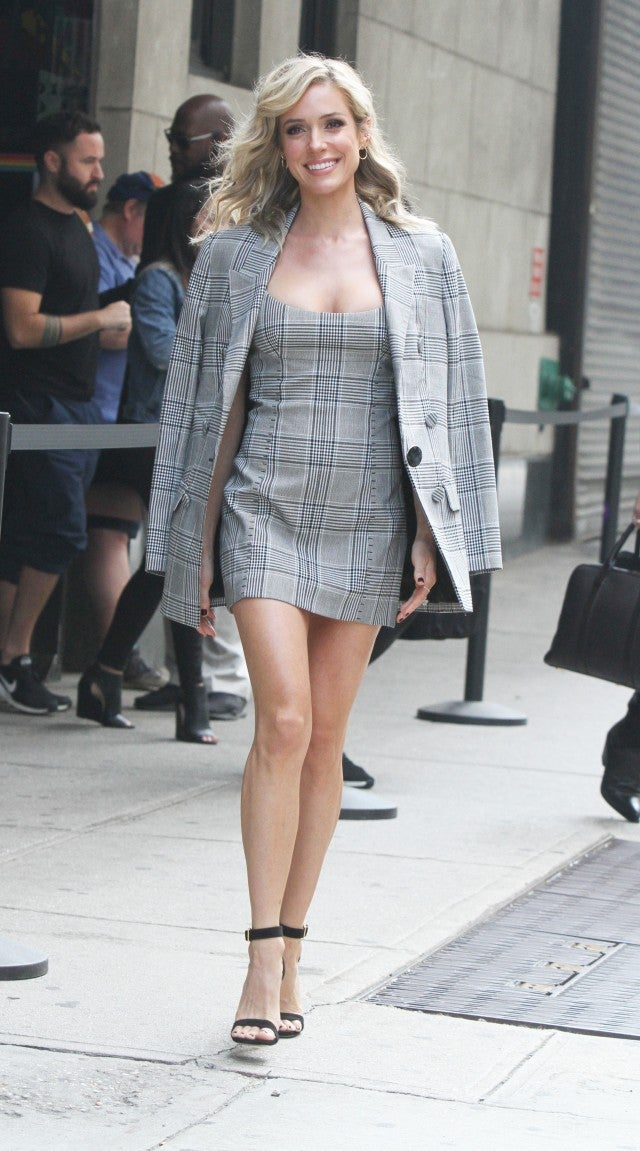 Kristin Cavallari plaid dress and jacket