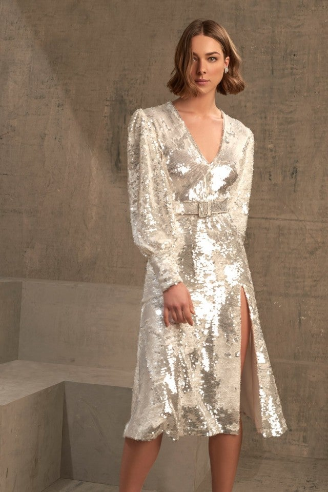Iorane silver sequin dress