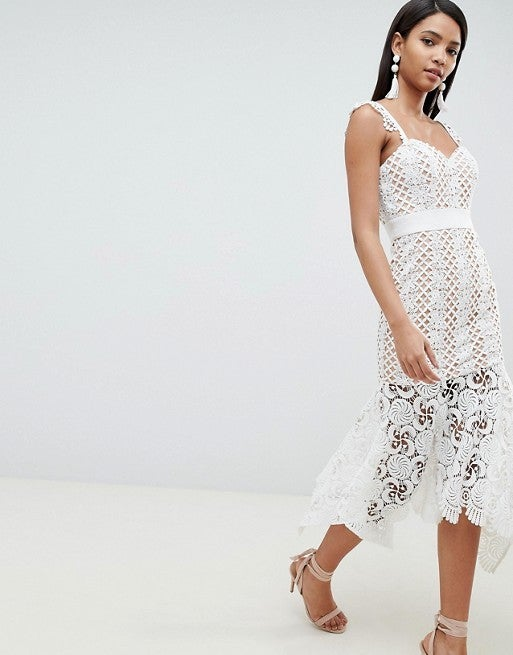 Jarlo white lace dress