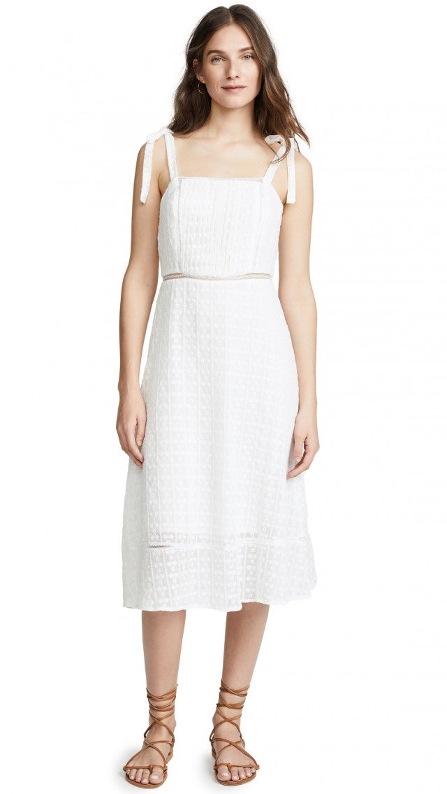 ef56444923 Lulus Leoni White Tie-Strap Smocked Swim Cover-Up  56. JOA white tie midi  dress