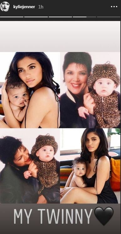 Kylie Jenner Kris and Stormi