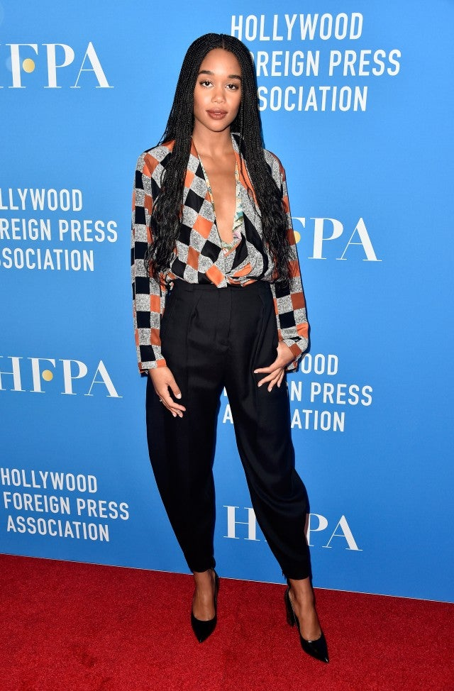Laura Harrier HFPA Event