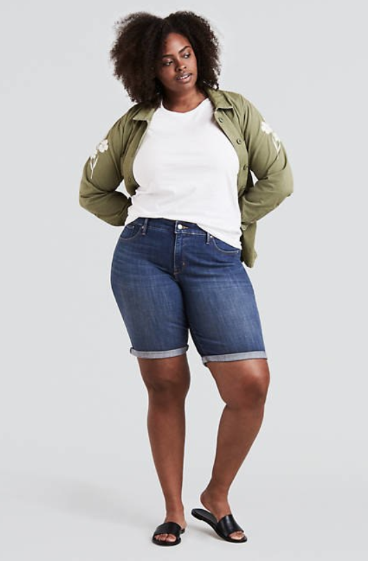 Levi's plus size bermuda short