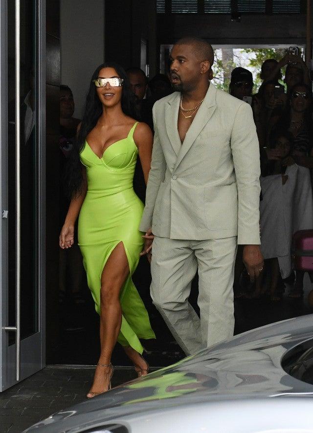 Kim Kardashian Rocks Another Neon Look To 2 Chainz S