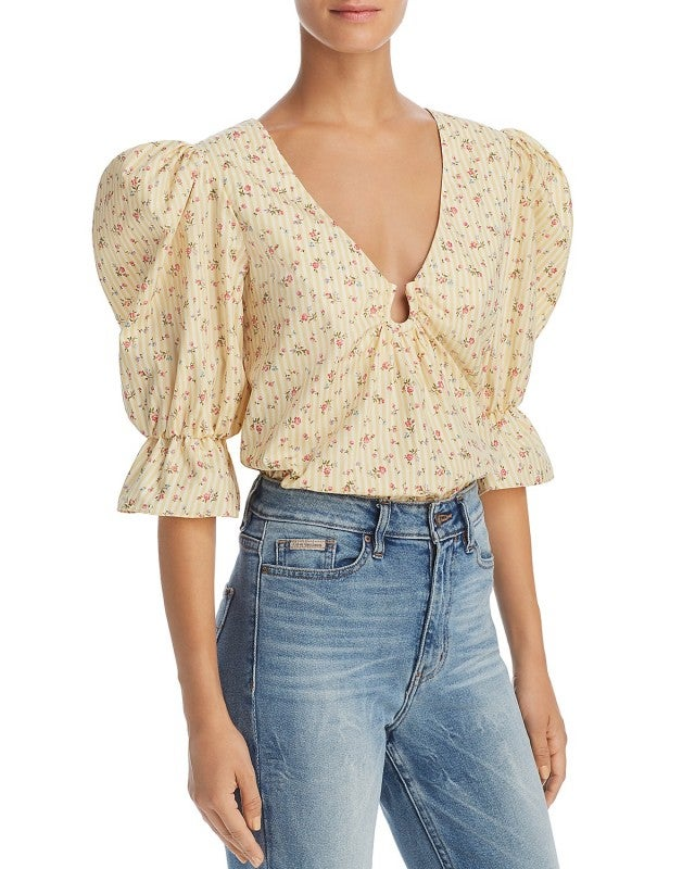 Petersyn puffed shoulder top