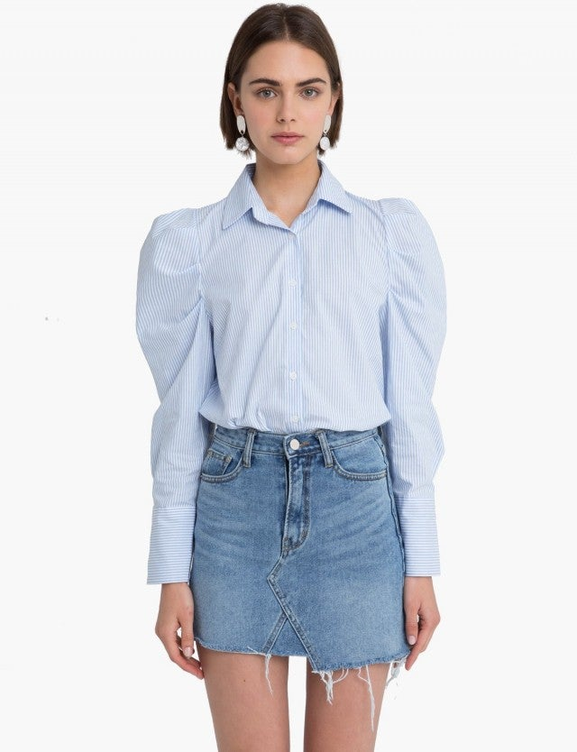 Pixie Market puffed shoulder shirt