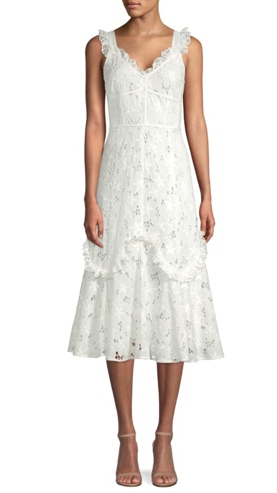 Rebecca Taylor white lace dress