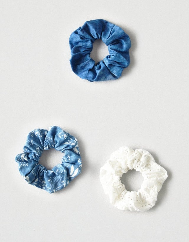 American Eagle denim scrunchies