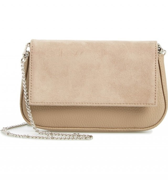 Sole Society beige crossbody bag