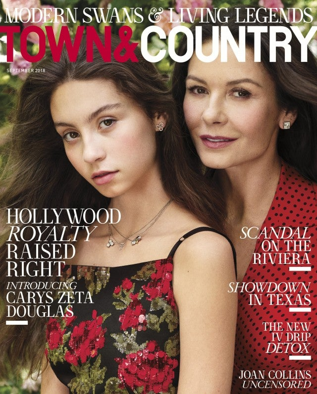 Catherine Zeta-Jones & Daughter Carys Cover 'Town & Country' Together!