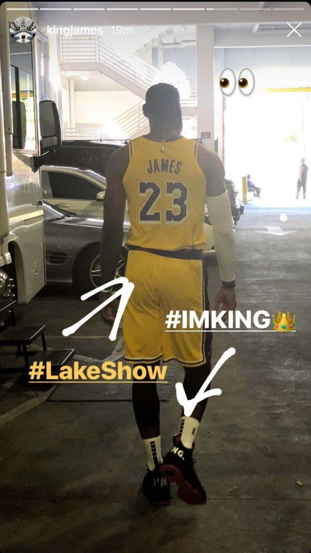 9aebe6767d1c LeBron James Shows Off His Lakers Uniform For the First Time -- Pics ...